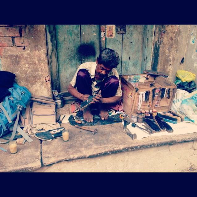Cobbler in Varanasi