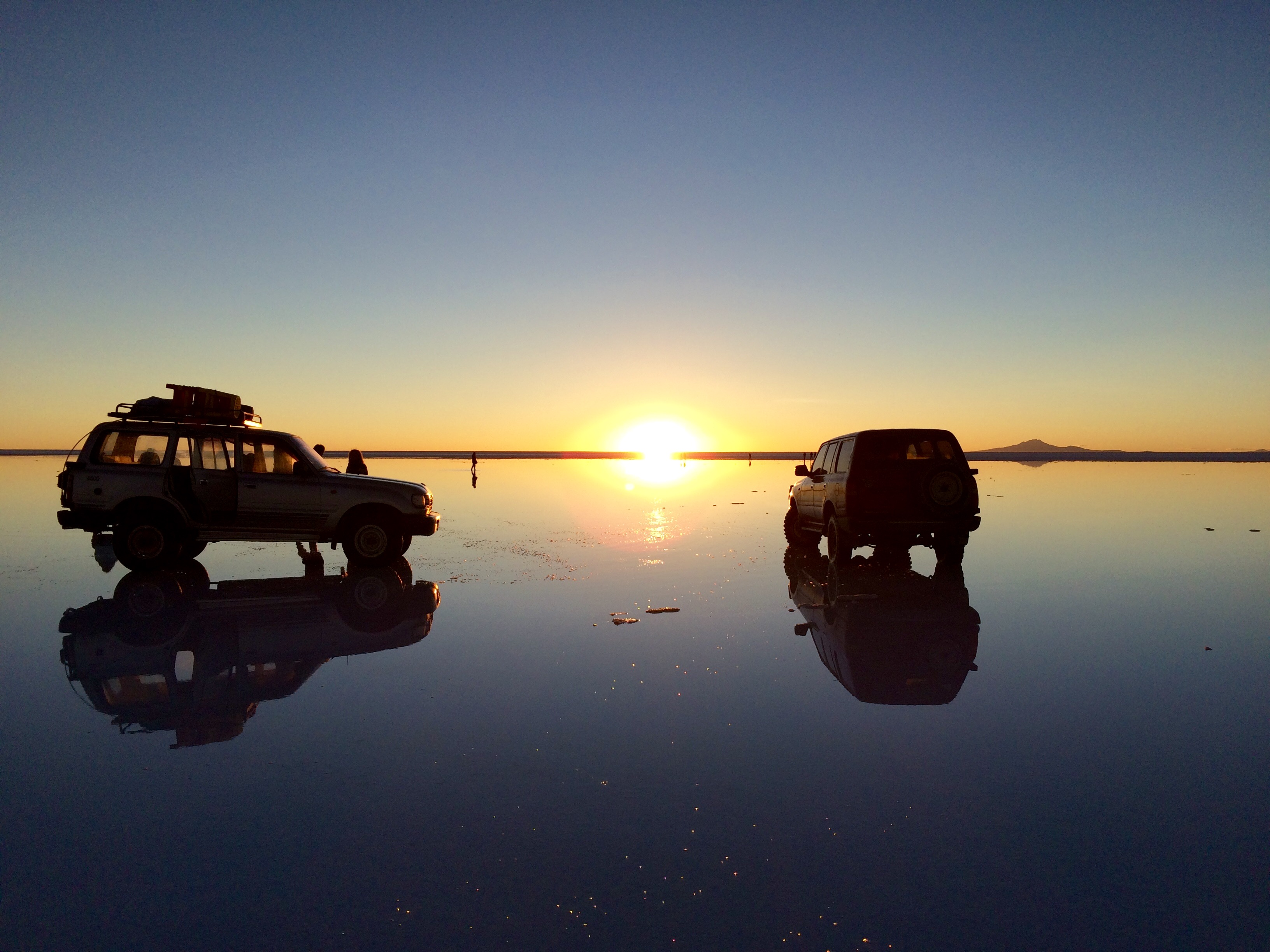Salar car sunset