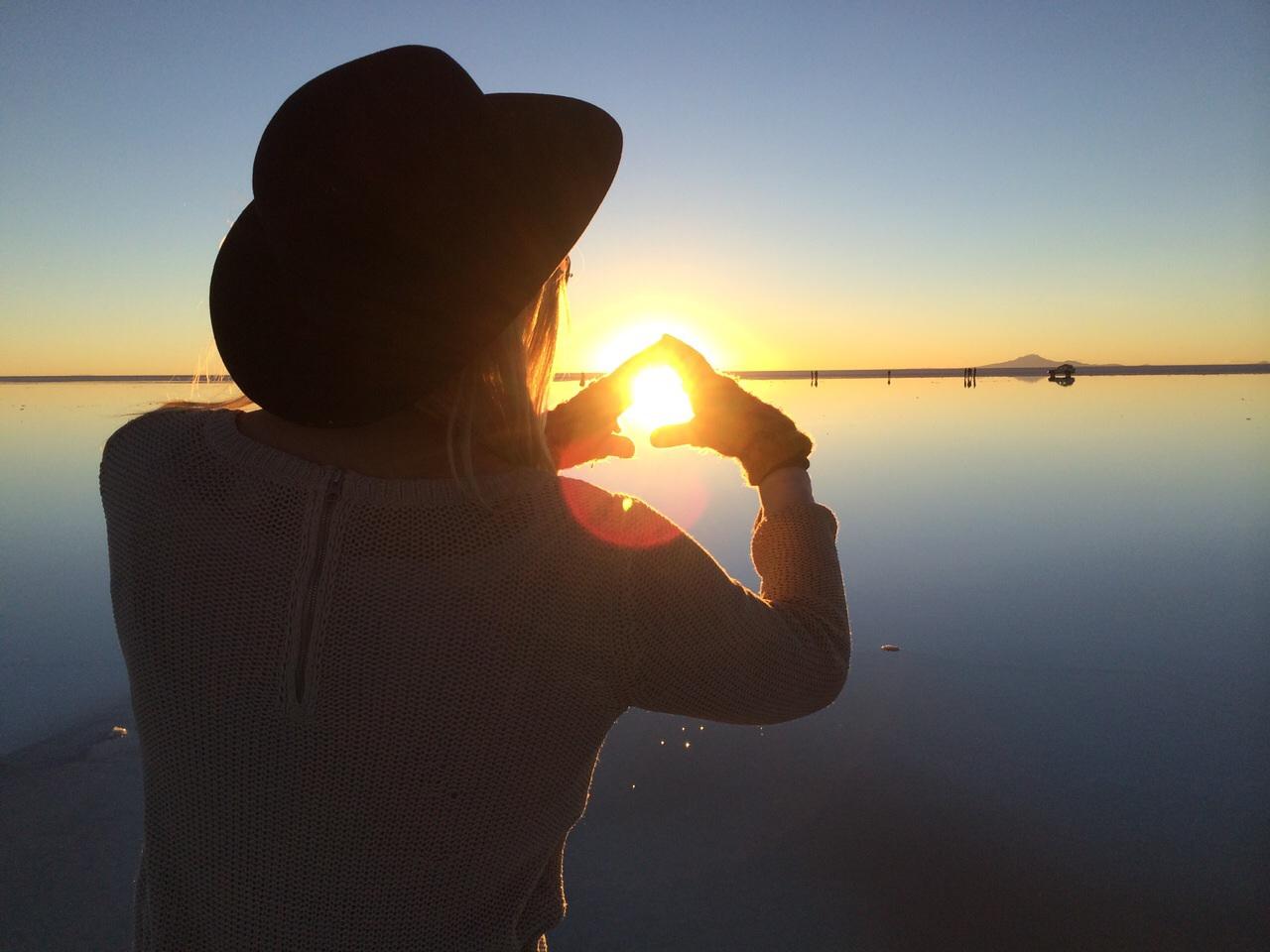 Salar holding the sun