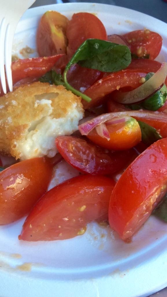 Olive vegan mozzarella
