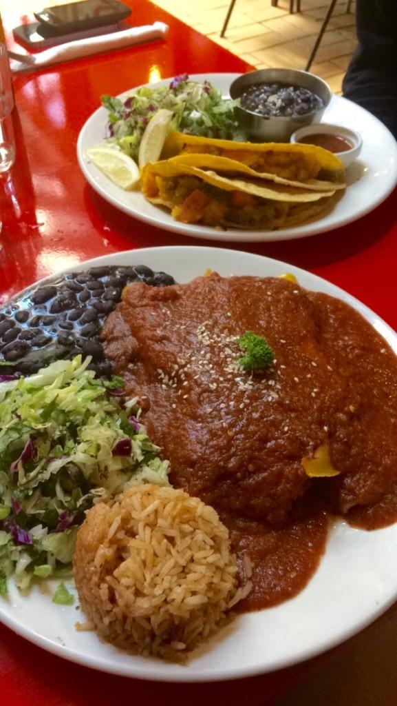 Viva Mexico vegan enchiladas